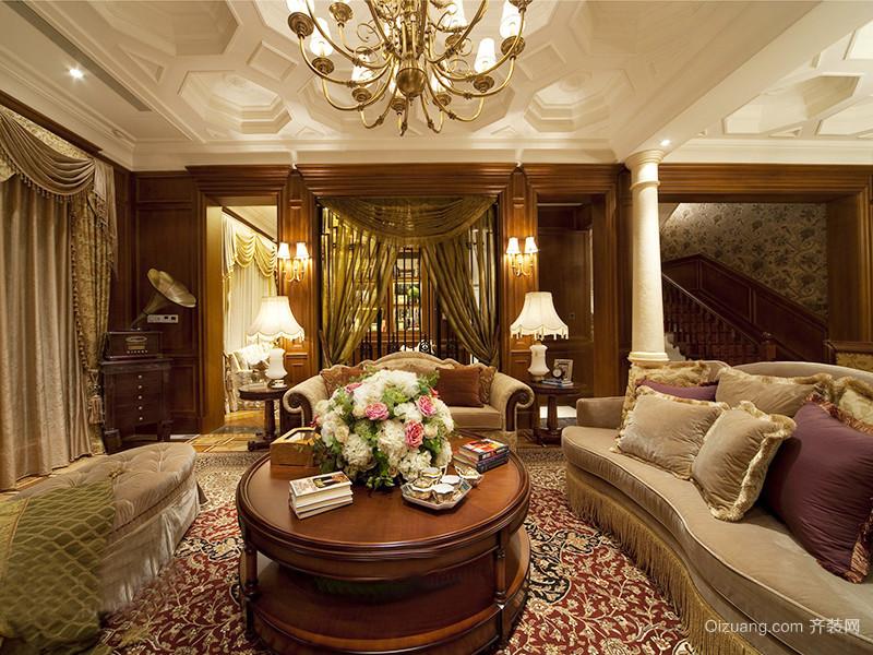 367平米古典欧式风格奢华别墅室内装修效果图案例