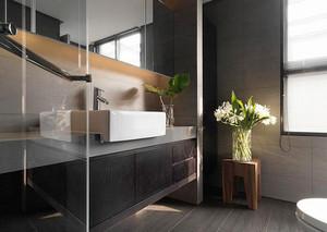 137平米后现代风格冷色调复式楼装修效果图赏析