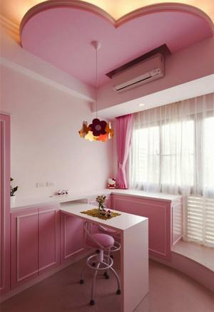 简欧风格梦幻粉色精致吧台设计装修效果图赏析