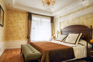 美式风格大户型室内卧室装修效果图赏析