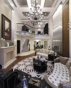 226平米欧式风格奢华精美复式楼装修效果图赏析