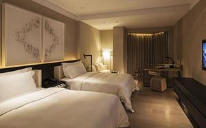 现代风格精致宾馆标准间客房装修效果图赏析
