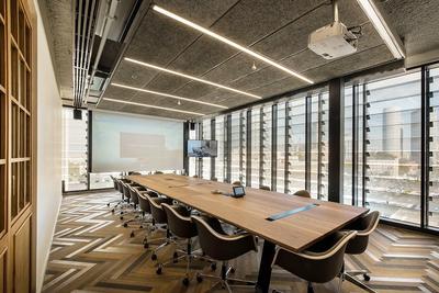 150平米现代风格多功能会议室装修效果图赏析