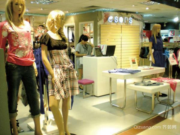 52平米现代简约风格小服装店设计装修效果图