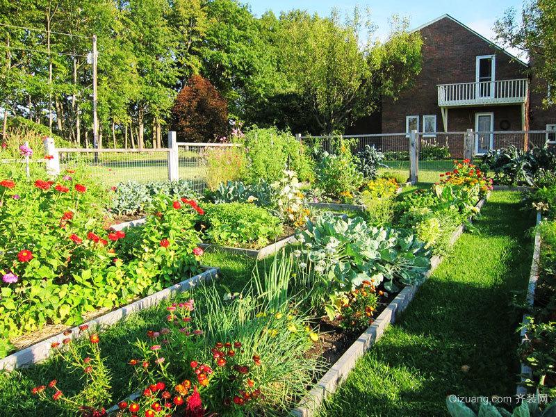 现代美式风格别墅花园设计装修效果图赏析