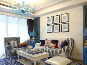 94平米地中海风格精致两室两厅室内装修效果图赏析