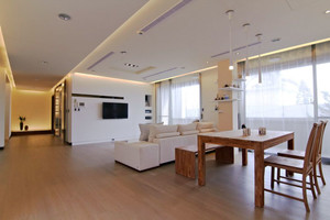 宜家风格简约客厅餐厅一体吊顶装修效果图赏析