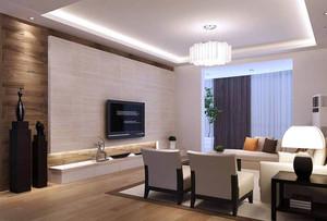 简欧风格客厅电视白色文化砖背景墙装修效果图赏析