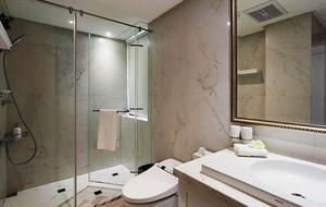 141平米简约美式风格三室两厅室内装修效果图案例