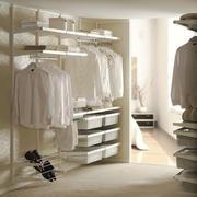 现代简约风格纯白精致衣帽间设计装修效果图