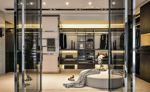 120平米现代工业风格个性创意室内装修效果图案例