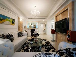 简欧风格冷色调精致两室两厅装修效果图案例
