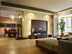 140平米新中式风格精装三室两厅室内装修效果图赏析