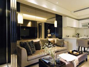61平米后现代风格一居室小户型室内装修效果图案例