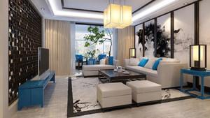 中式风格精致客厅装饰画装修效果图赏析