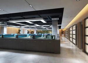 100平米现代简约风格办公室装修效果图赏析