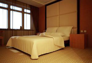 现代风格宾馆单人间客房设计装修效果图