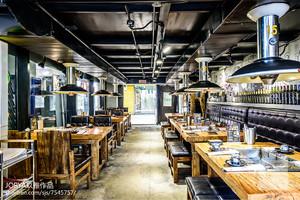 90平米混搭风格烤肉店餐厅设计装修效果图
