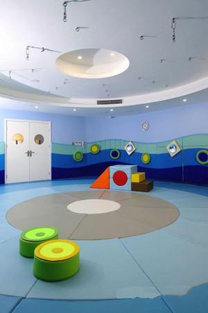 90平米现代简约风格幼儿园教室环境布置装修效果图