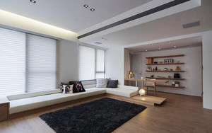 83平米北欧风格简约两室两厅室内装修效果图案例