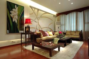 128平米东南亚风格三室两厅室内装修效果图案例