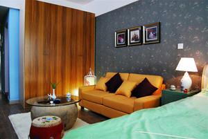 东南亚风格时尚亮丽一居室小户型装修效果图案例