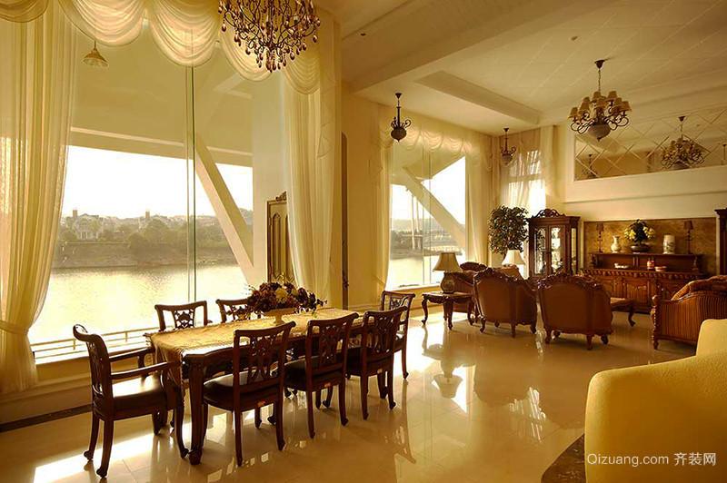 300平米古典欧风格精致别墅室内装修效果图赏析