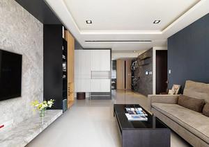 94平米后现代风格两室两厅室内装修效果图案例
