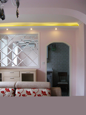 80平米简欧风格梦幻粉色室内装修效果图案例