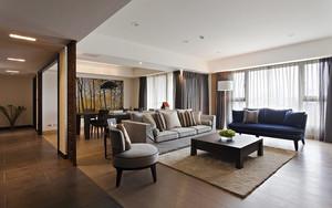 146平米简约中式风格三室两厅室内装修效果图赏析