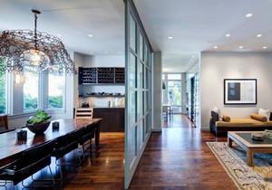 简欧风格大户型室内精致客厅餐厅隔断设计效果图