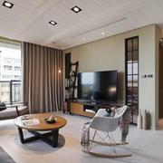 后现代风格两居室客厅吊顶装修效果图欣赏