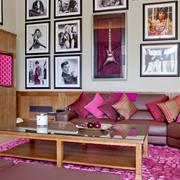 混搭风格时尚客厅照片墙装修效果图赏析