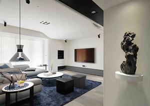 现代简约风格精装两室两厅室内装修效果图案例