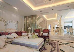 186平米欧式风格精致别墅室内装修效果图案例