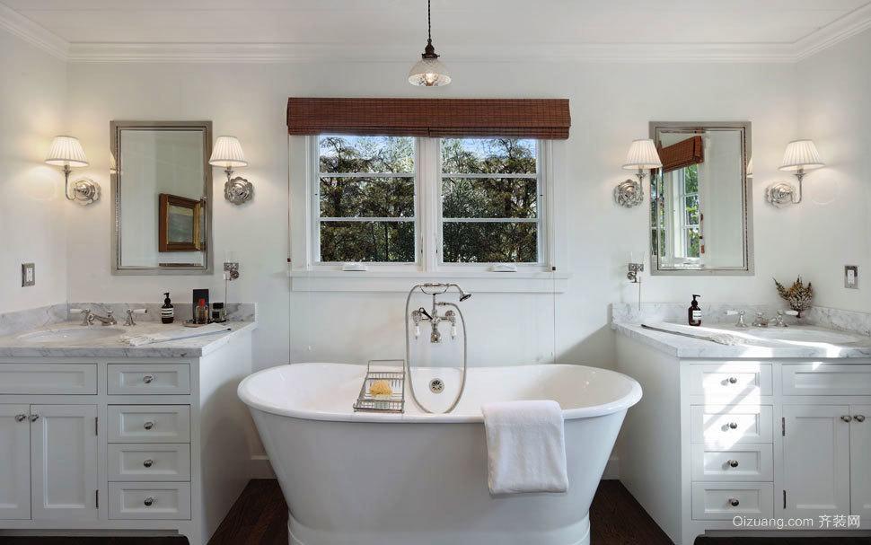 欧式风格别墅室内精致卫生间设计装修效果图