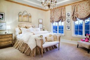 欧式田园风格别墅卧室装修效果图赏析