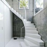 现代风格别墅纯白楼梯设计装修效果图赏析