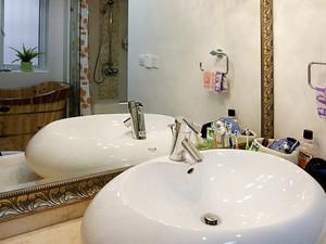 104平米新中式风格两室两厅室内装修效果图案例