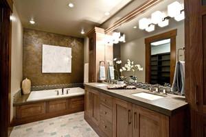 中式风格大户型精致卫生间设计装修效果图赏析