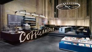 86平米时尚混搭风格咖啡厅设计装修效果图