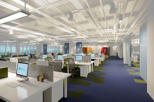 300平米现代简约风格办公室装修效果图