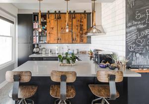 后现代风格开放式厨房吧台装修效果图赏析