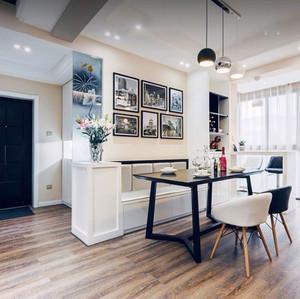 美式风格大户型室内餐厅卡座设计装修效果图