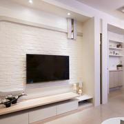 现代风格精致客厅文化砖电视背景墙装修效果图