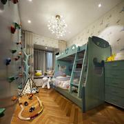 现代美式风格精致双层床儿童房装修效果图赏析