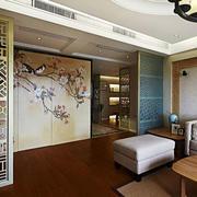 混搭风格大户型室内客厅隔断设计装修效果图