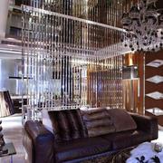 简欧风格大户型奢华客厅隔断设计装修效果图