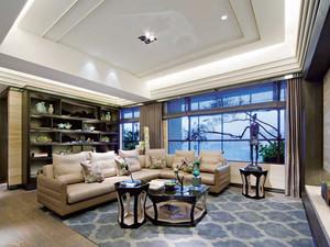 146平米简约中式风格精装三室两厅室内装修效果图赏析