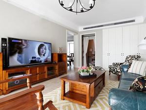 92平米美式风格两室两厅一卫装修效果图案例